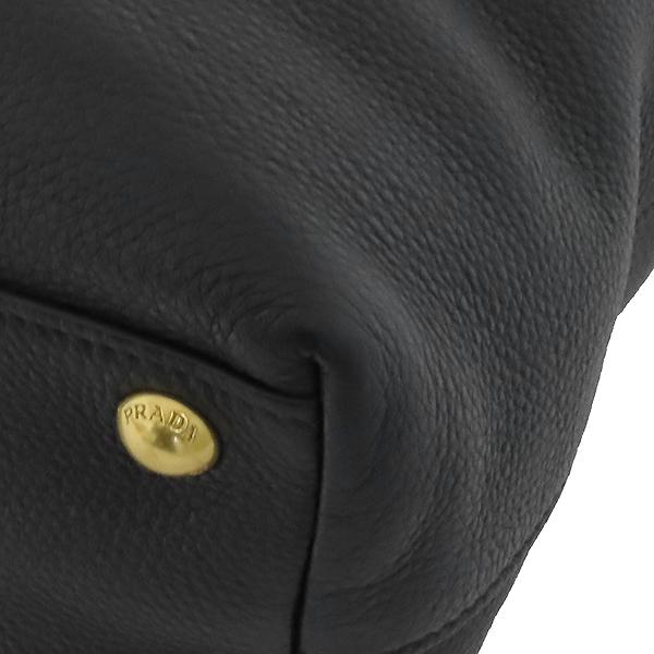 Prada(프라다) BN1713 VIT.DAINO NERO 블랙 레더 금장 로고 쇼퍼 2WAY [부산서면롯데점] 이미지5 - 고이비토 중고명품
