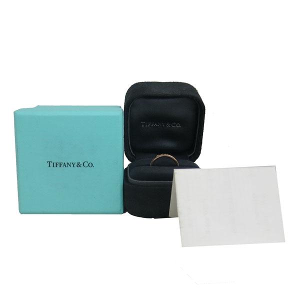 Tiffany(티파니) 18K 핑크 골드 Tiffany&Co 라운드 로고 브릴리언트 3포인트 다이아 3MM 반지-7호 [동대문점]