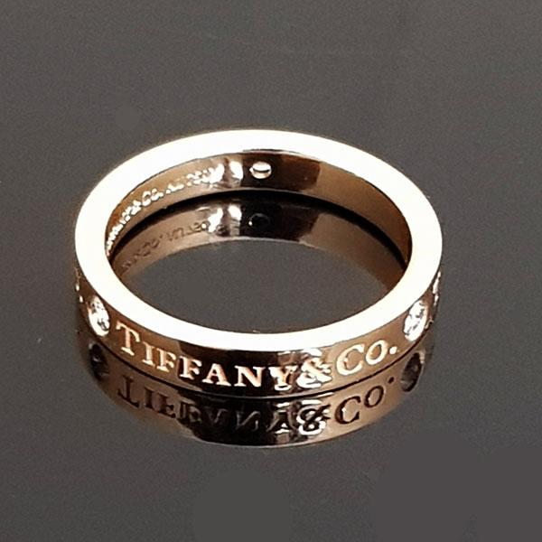 Tiffany(티파니) 18K 핑크 골드 Tiffany&Co 라운드 로고 브릴리언트 3포인트 다이아 3MM 반지-7호 [동대문점] 이미지3 - 고이비토 중고명품