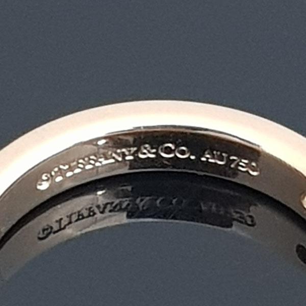 Tiffany(티파니) 18K 핑크 골드 Tiffany&Co 라운드 로고 브릴리언트 3포인트 다이아 3MM 반지-7호 [동대문점] 이미지4 - 고이비토 중고명품