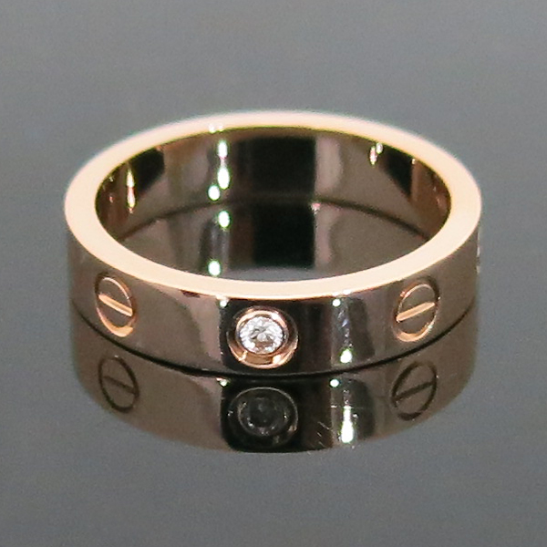 Cartier(까르띠에) B4050750 18K 핑크골드 1포인트 다이아 미니 러브링 반지-10호 [부산센텀본점] 이미지3 - 고이비토 중고명품