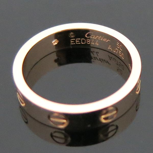 Cartier(까르띠에) B4050750 18K 핑크골드 1포인트 다이아 미니 러브링 반지-10호 [부산센텀본점] 이미지5 - 고이비토 중고명품