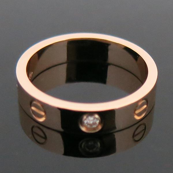 Cartier(까르띠에) B4050750 18K 핑크골드 1포인트 다이아 미니 러브링 반지-10호 [부산센텀본점] 이미지6 - 고이비토 중고명품