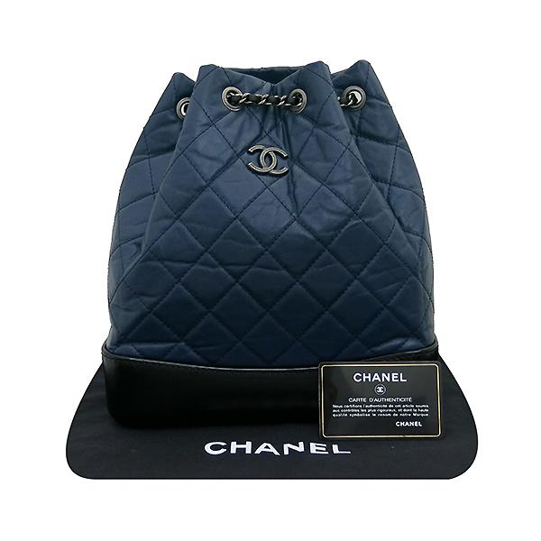 Chanel(샤넬) A94485 은장 coco로고 네이비 컬러 가브리엘 빈티지 숄더 겸 백팩 [부산센텀본점]