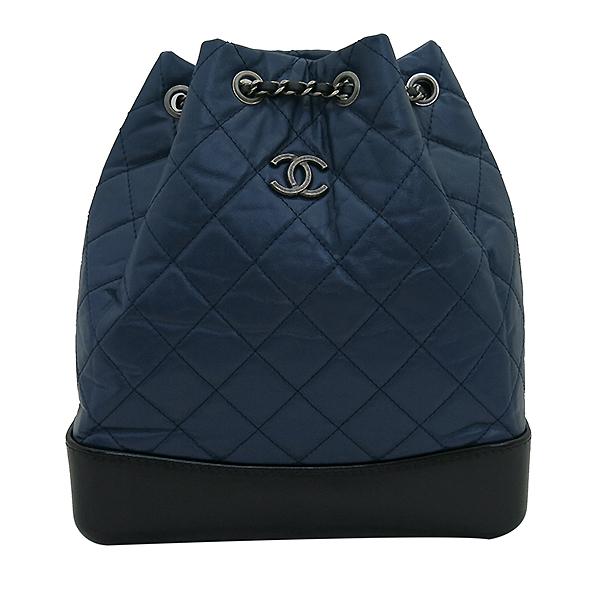 Chanel(샤넬) A94485 은장 coco로고 네이비 컬러 가브리엘 빈티지 숄더 겸 백팩 [부산센텀본점] 이미지2 - 고이비토 중고명품