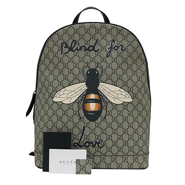 Gucci(구찌) 419584 GG로고 꿀벌 스티치 수프림 백팩 [부산센텀본점]