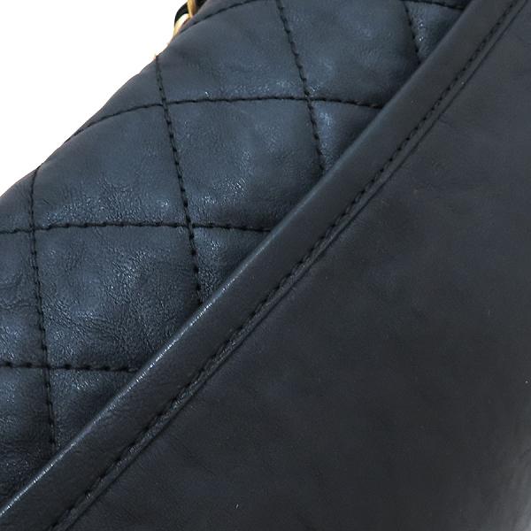 Chanel(샤넬) 블랙 카프 레더 크루즈 컬렉션 빈티지 금장 체인 더블포켓 플랩 숄더백 [인천점] 이미지5 - 고이비토 중고명품