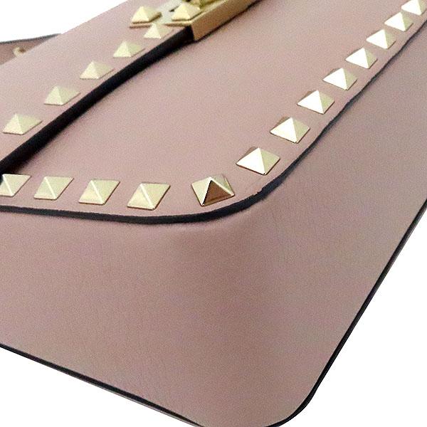 VALENTINO(발렌티노)  핑크컬러  락스터드 체인 레더 스트랩 숄더백  [부산서면롯데점] 이미지6 - 고이비토 중고명품