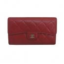 Chanel(샤넬) A31506 레드 컬러 캐비어스킨 은장 로고 클래식 장지갑 [동대문점]