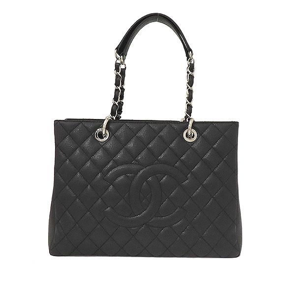 Chanel(샤넬) A50995Y01588 캐비어스킨 블랙 그랜드샤핑 은장로고 체인 숄더백 [부산서면롯데점] 이미지2 - 고이비토 중고명품