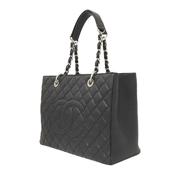 Chanel(샤넬) A50995Y01588 캐비어스킨 블랙 그랜드샤핑 은장로고 체인 숄더백 [부산서면롯데점] 이미지3 - 고이비토 중고명품