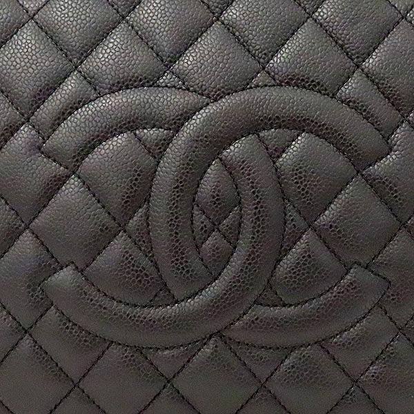 Chanel(샤넬) A50995Y01588 캐비어스킨 블랙 그랜드샤핑 은장로고 체인 숄더백 [부산서면롯데점] 이미지4 - 고이비토 중고명품