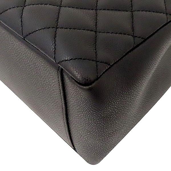 Chanel(샤넬) A50995Y01588 캐비어스킨 블랙 그랜드샤핑 은장로고 체인 숄더백 [부산서면롯데점] 이미지5 - 고이비토 중고명품