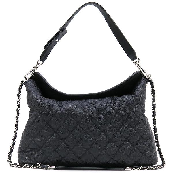 Chanel(샤넬) 블랙 캐비어스킨 은장 COCO 로고 체인 2WAY [강남본점] 이미지2 - 고이비토 중고명품
