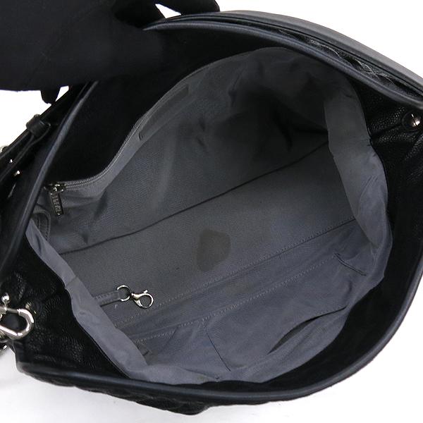 Chanel(샤넬) 블랙 캐비어스킨 은장 COCO 로고 체인 2WAY [강남본점] 이미지5 - 고이비토 중고명품