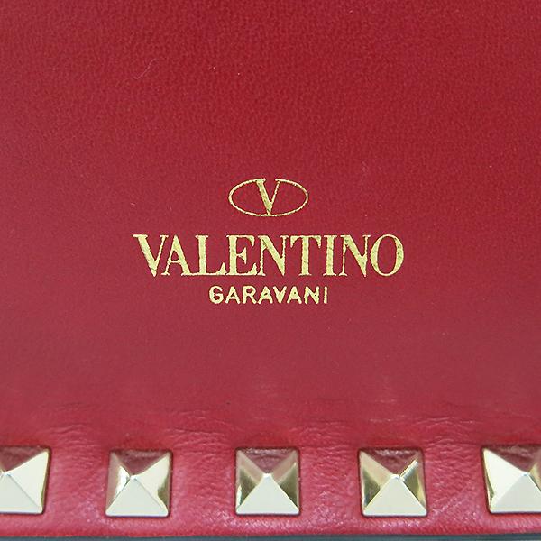 VALENTINO(발렌티노) 레드 레더 가라바니라인 락스터드 클러치백 [부산센텀본점] 이미지5 - 고이비토 중고명품