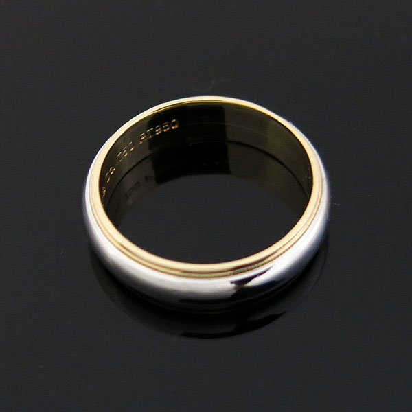 Tiffany(티파니) PT950 (플래티늄) + 18K 골드 MILGRAIN (밀그레인) 6MM 반지 - 22호 [대구동성로점]