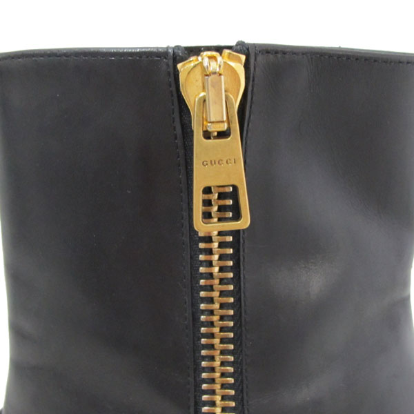 Gucci(구찌) 432063 GG 마몬트 블랙 레더 여성용 앵클 부츠 [대구반월당본점]