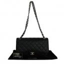 Chanel(샤넬) A58600 블랙 캐비어스킨 클래식 점보 사이즈 은장 체인 숄더백 [동대문점]
