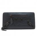 Balenciaga(발렌시아가) 253053 그레이 컬러 자이언트 금장 장식 집업 장지갑 [인천점]