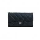 Chanel(샤넬) A31506 블랙 램스킨 은장 로고 클래식 장지갑 [부산센텀본점]