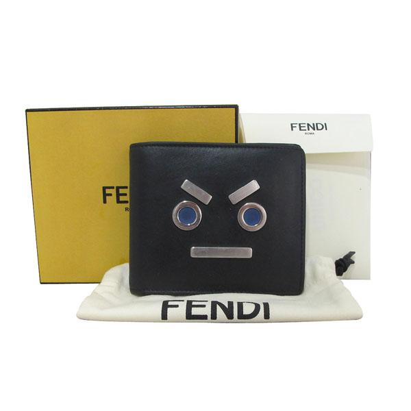 Fendi(펜디) 7M0169-SL9 블랙 레더 페이스 남성용 반지갑 [대구반월당본점]