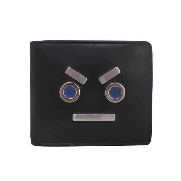 Fendi(펜디) 7M0169-SL9 블랙 레더 페이스 남성용 반지갑 [대구반월당본점] 이미지2 - 고이비토 중고명품