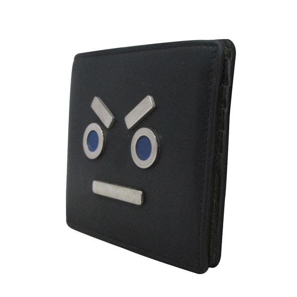 Fendi(펜디) 7M0169-SL9 블랙 레더 페이스 남성용 반지갑 [대구반월당본점] 이미지3 - 고이비토 중고명품