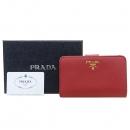 Prada(프라다) 1ML225 레드 사피아노 금장 로고 집업 중지갑 [강남본점]