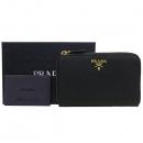 Prada(프라다) 1ML157 블랙 사피아노 금장 로고 중지갑 [강남본점]
