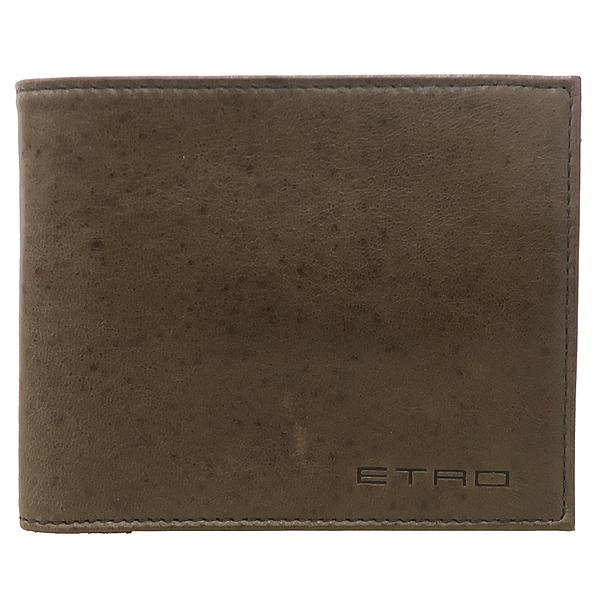 Etro(에트로) 브라운 레더 스티치 동전수납 남성 반지갑 [강남본점] 이미지2 - 고이비토 중고명품
