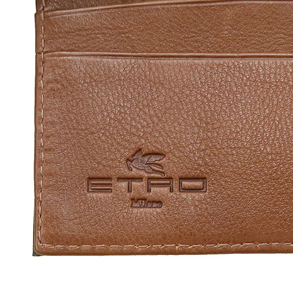 Etro(에트로) 브라운 레더 스티치 동전수납 남성 반지갑 [강남본점] 이미지4 - 고이비토 중고명품