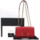 Chanel(샤넬) A93340 레드 컬러 캐비어 퀼팅 코스메틱 숄더 겸 크로스백 [강남본점]