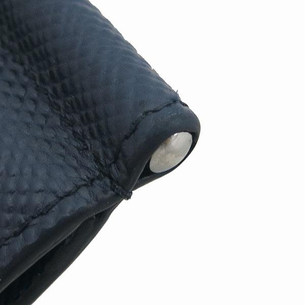 Prada(프라다) 2MN077 은장 로고 장식 네이비 사피아노 6크레딧 머니클립 반지갑 [동대문점] 이미지5 - 고이비토 중고명품