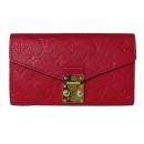 Louis Vuitton(루이비통) M63728 모노그램 앙프렝뜨 스칼렛 컬러 메티스 장지갑 [대전본점]