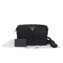 Prada(프라다) 1BH104 블랙 레더 사피아노 스퀘어 금장 로고장식 크로스백 [대구반월당본점]