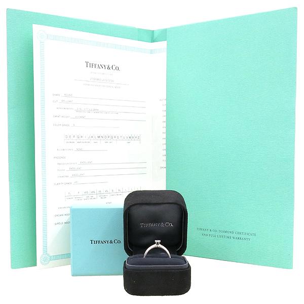 Tiffany(티파니) PT950(플레티늄) 0.20CT(캐럿) G컬러 VS1 다이아 웨딩 반지 - 12호 [강남본점]