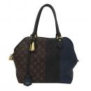 Louis Vuitton(루이비통) M40504 모노그램 캔버스 블랙 마린네이비 레더 혼방 짚업토트백 [부산서면롯데점]