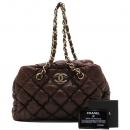 Chanel(샤넬) A35615 램스킨 브라운 컬러 COCO 로고 버블 퀄팅 금장 체인 클라우디 숄더백 [인천점]