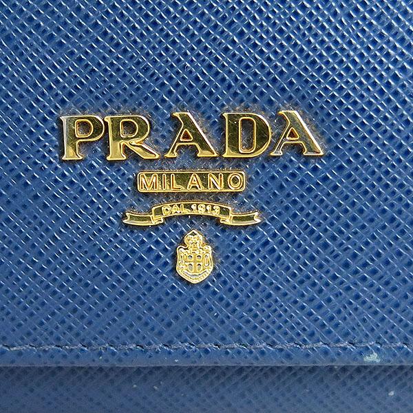 Prada(프라다) 1MH176 금장 로고 네이비 컬러 사피아노 중지갑 [대구동성로점] 이미지5 - 고이비토 중고명품