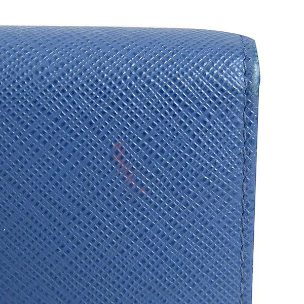 Prada(프라다) 1MH176 금장 로고 네이비 컬러 사피아노 중지갑 [대구동성로점] 이미지7 - 고이비토 중고명품