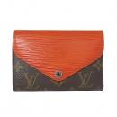 Louis Vuitton(루이비통) M60427 모노그램 캔버스 + 오렌지 에삐 레더 혼방 마리루 컴팩트 지갑 [대전본점]