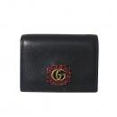 Gucci(구찌) 499783 블랙 컬러 마몬트 크리스털 장식 로고 반지갑 [대전본점]