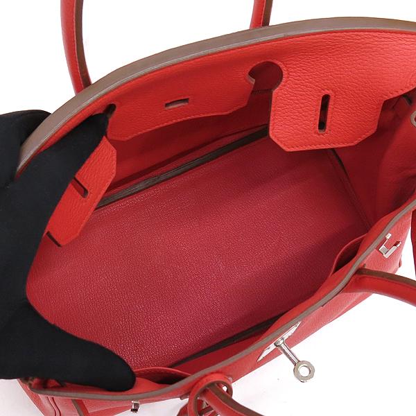 Hermes(에르메스) 토고 rouge pivoine 컬러 벌킨 30 은장 락 장식 토트백 [강남본점] 이미지5 - 고이비토 중고명품