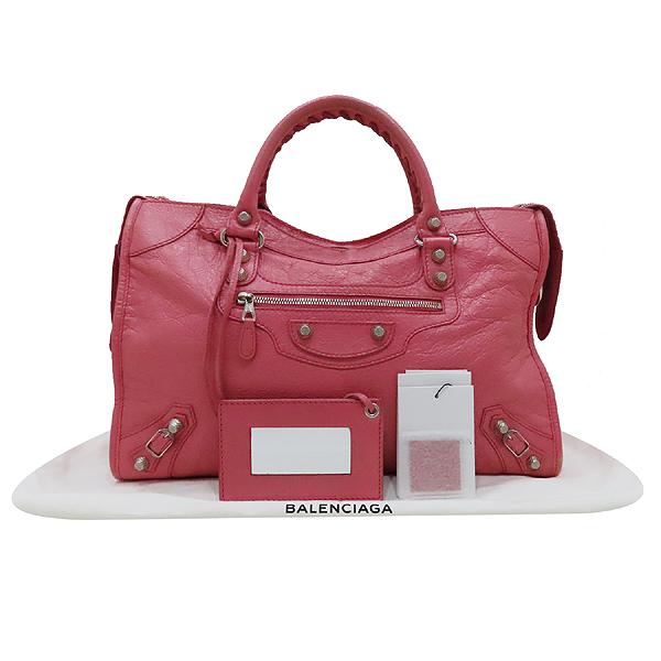 Balenciaga(발렌시아가) 281770 핑크 레더 빈티지 뉴 자이언트 시티 토트백 + 숄더스트랩 + 보조거울 2WAY [인천점]