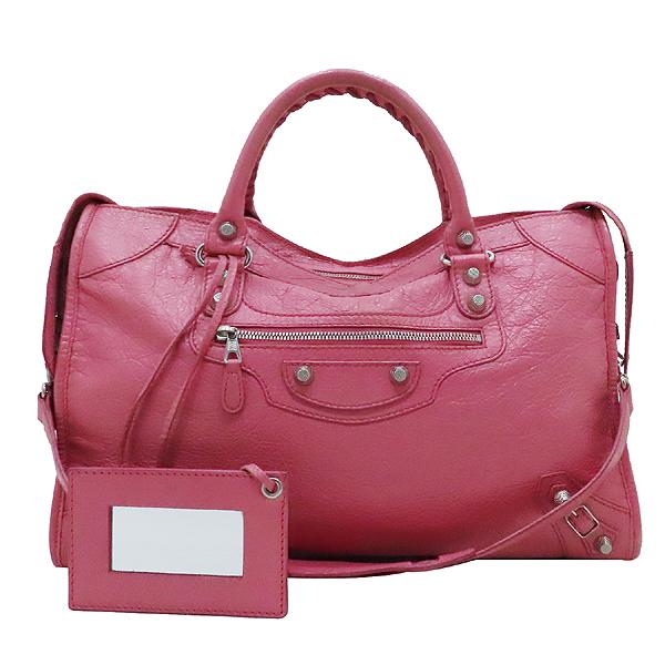 Balenciaga(발렌시아가) 281770 핑크 레더 빈티지 뉴 자이언트 시티 토트백 + 숄더스트랩 + 보조거울 2WAY [인천점] 이미지2 - 고이비토 중고명품