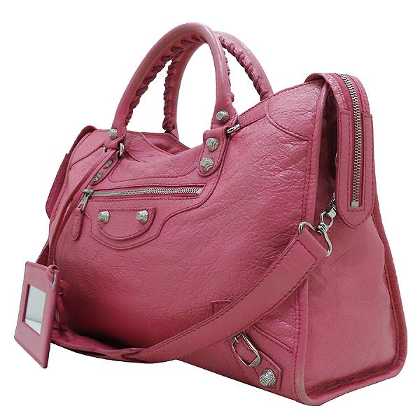 Balenciaga(발렌시아가) 281770 핑크 레더 빈티지 뉴 자이언트 시티 토트백 + 숄더스트랩 + 보조거울 2WAY [인천점] 이미지3 - 고이비토 중고명품
