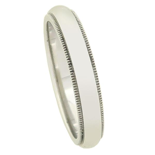 Tiffany(티파니) PT950(플래티늄) 밀그레인 4MM 밴드 반지 - 21.5호 [강남본점] 이미지2 - 고이비토 중고명품