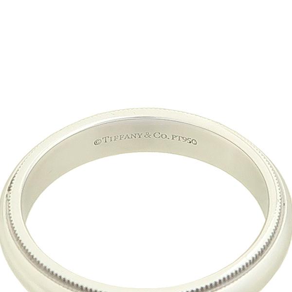 Tiffany(티파니) PT950(플래티늄) 밀그레인 4MM 밴드 반지 - 21.5호 [강남본점] 이미지3 - 고이비토 중고명품