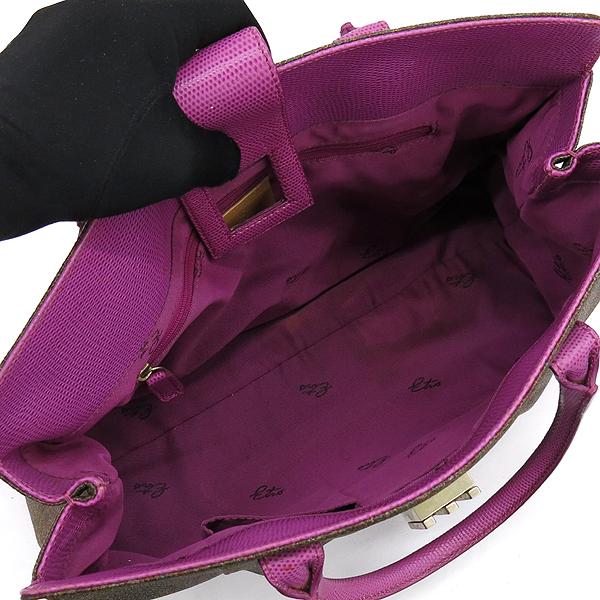 Etro(에트로) 1F344 페이즐리 PVC 핑크 레더 혼방 토트백 [강남본점] 이미지5 - 고이비토 중고명품